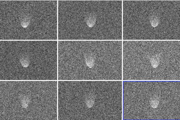 Radarová zábery planétky 3122 Florence.