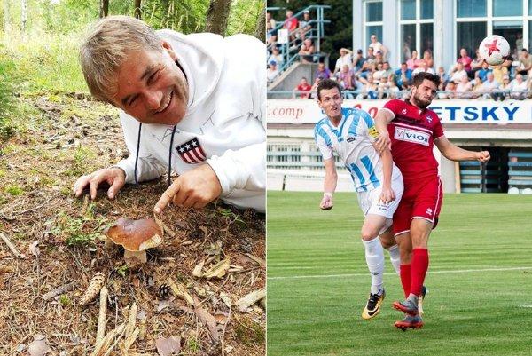 Zbieranie ligových bodov aj húb zatiaľ Ivanovi Galádovi v tejto sezóne ide. Vpravo na snímke Filip Balaj, o ktorého sa údajne zaujíma španielsky druholigový klub.