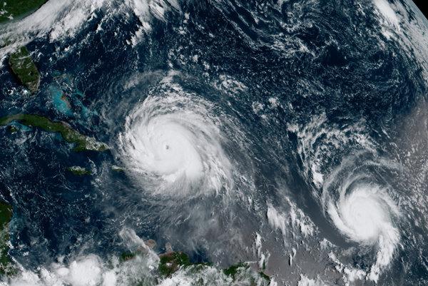 Ilustračná fotografia. Globálne otepľovanie spôsobuje, že hurikány, tajfúny a cyklóny sú silnejšie než kedysi.