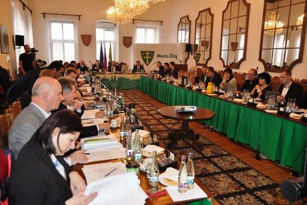 Zasadnutie žilinského mestského zastupiteľstva.