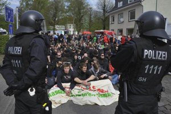 Protest v Nemecku.