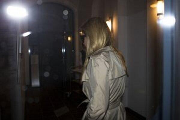 Jevhenija Tymošenková prichádza do centrály strany FDP v Berlíne.