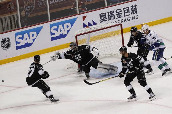LA King si zahrali s Vancouverom netradične v Číne.