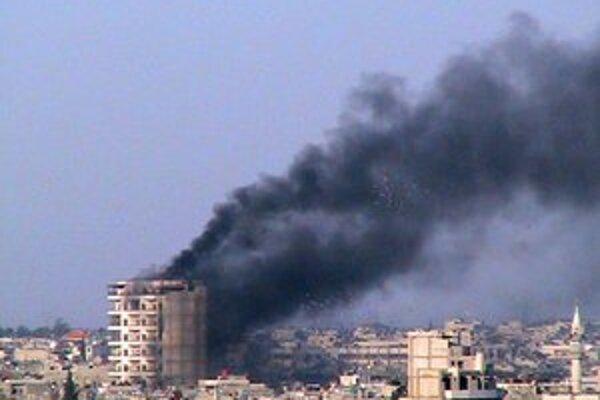 Boje v meste Homs.