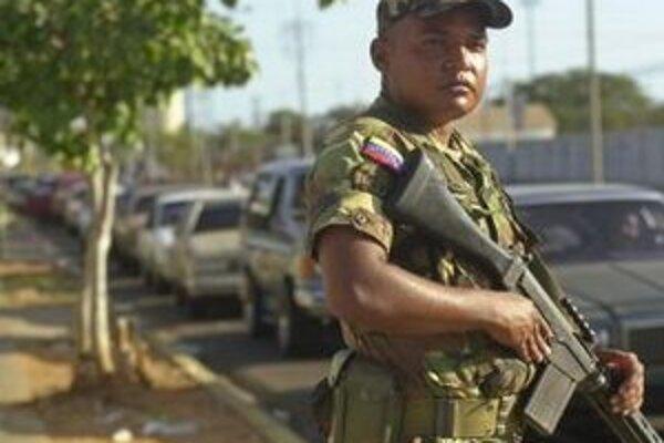 Vojak venezuelskej armády.