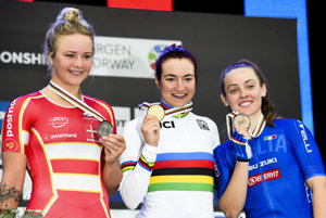 Talianska cyklistka Elena Pirroneová dosiahla skvelé double na MS v cyklistike.