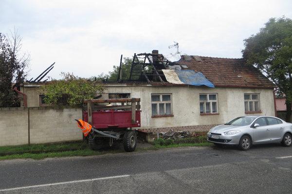 Takto vyzeral dom dôchodcu po požiari.