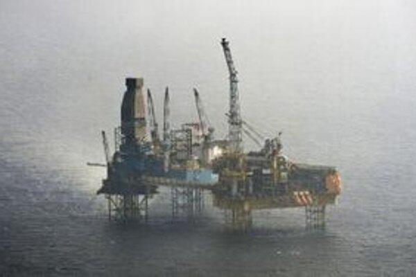 Ropná plošina spoločnosti Total v Severnom mori.