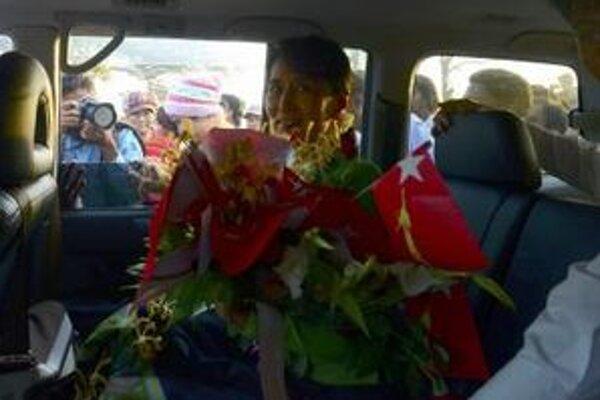 Nositeľka Nobelovej ceny za mier Aung Schan Su Ťij.