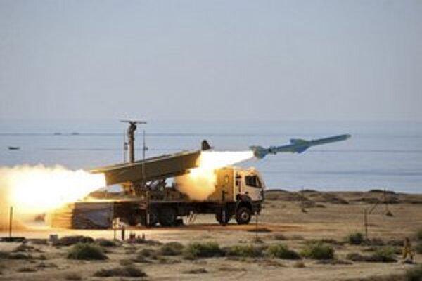 Test iránskych raketových síl.