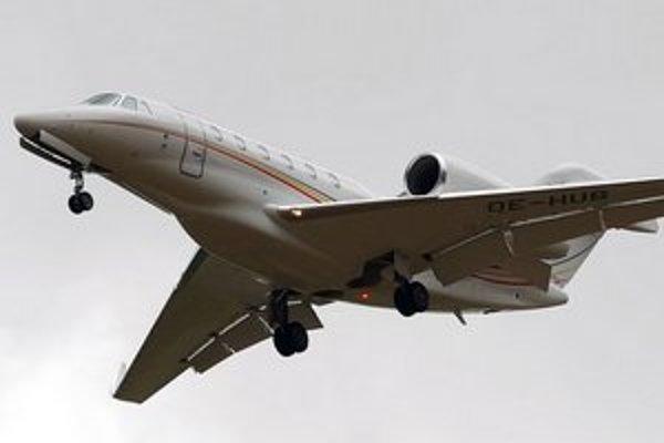 V plameňoch skončilo lietadlo Cessna 750 Citation X.