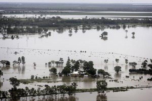Zaplavené austrálske mesto Moree v Novom Južnom Walese.