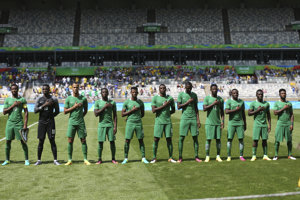 Futbalisti Nigérie. Ilustračná fotografia.