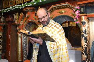 Arcidekan Igor Kerekanič. Stará sa tiež o drevený pravoslávny chrám v Ruskom Potoku.