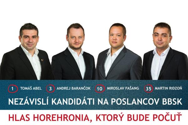 Spojenie síl štyroch kandidátov.