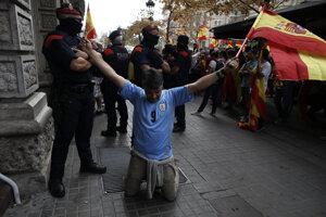 Oslavy španielskeho národného sviatku v Barcelone.