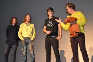 Tvorcovia filmu. Zľava: Tomáš Telepák, Robo Kočan, Michal Frank a Jano Stračina.