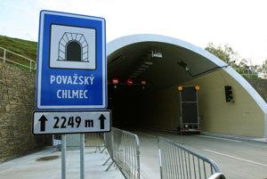 Tunel Považský Chlmec počas Dňa otvorených dverí.
