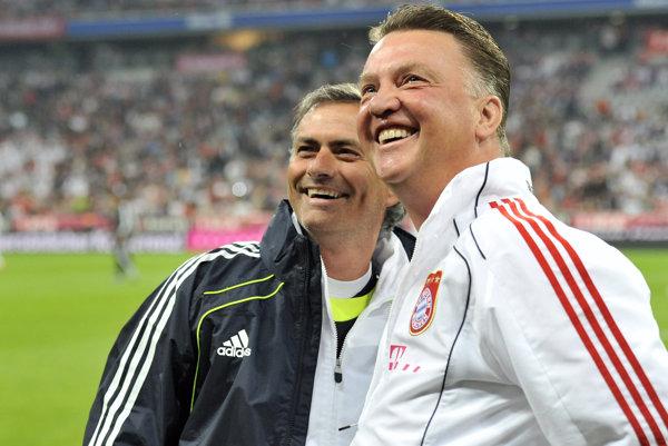Louis van Gaal a José Mourinho.