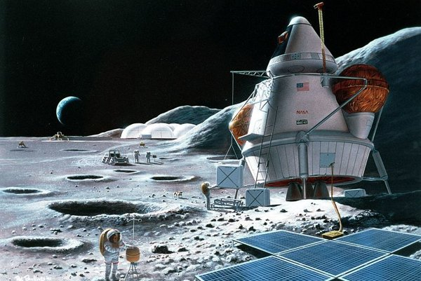 Jeden z konceptov lunárnej základne. Podľa nových zistení, by mala byť skôr pod povrchom.