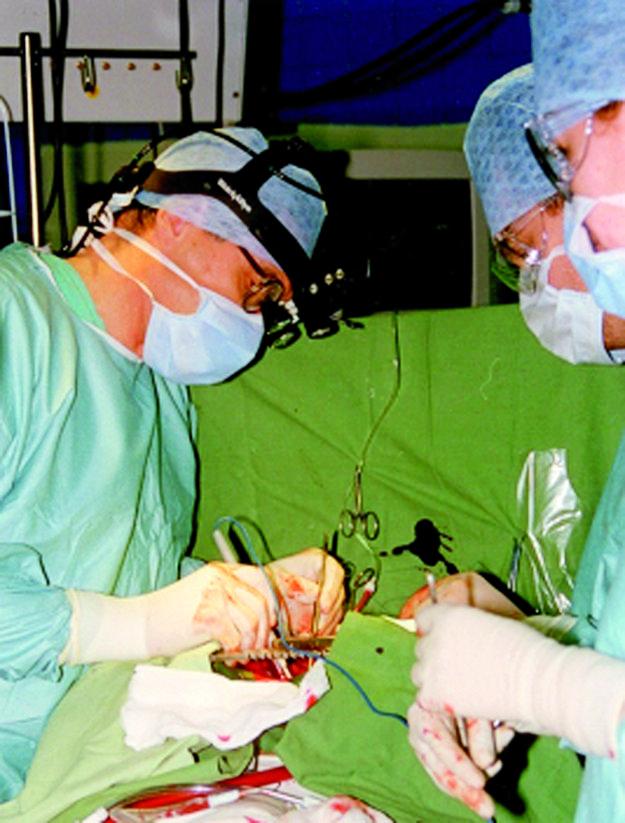 Archívny záber spred 20 rokov. Znázorňuje prvú operáciu srdca v mimotelovom obehu v Košiciach.