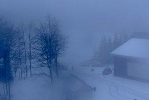 Skalka dnes ráno - pohľad od Guldineru.
