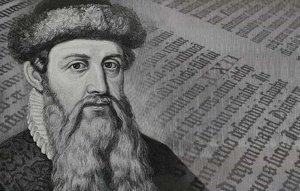 Nemecký vynálezca Johann Gutenberg.