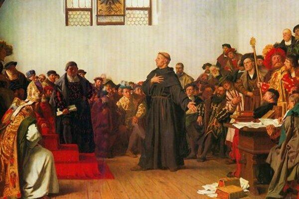 Luther predstúpil pred cisára Karla V. na zhromaždení známom ako Wormský snem. Mal sa obhajovať proti obvinenia z kacírstva.