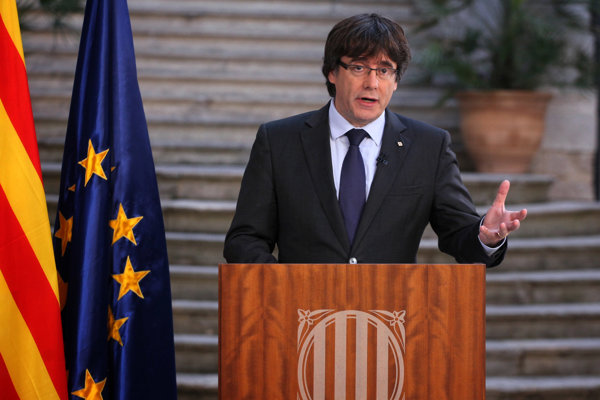 Odvolaný katalánsky líder Carles Puigdemont.