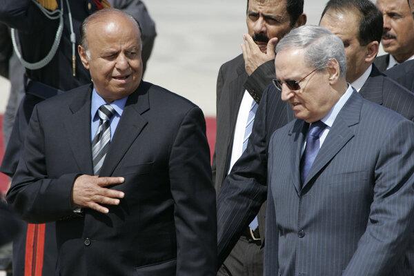 Jemenský prezident Abd Rabbuh Mansúr Hádí (vľavo).