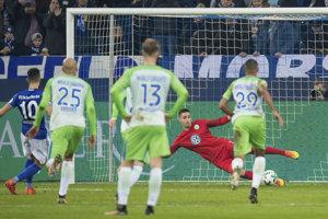 Momentka zo stretnutia v Schalke.