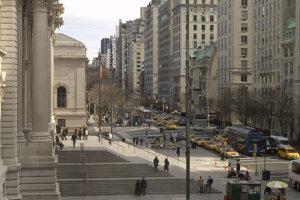 Piata avenue v New Yorku.