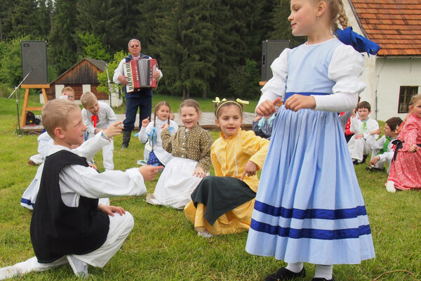 Deti zo súboru často účinkujú aj v martinskom skanzene.