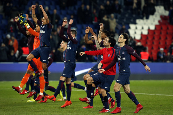 Hráči PSG sa radovali z víťazstva.