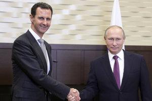 Putin privítal v Soči Asada.