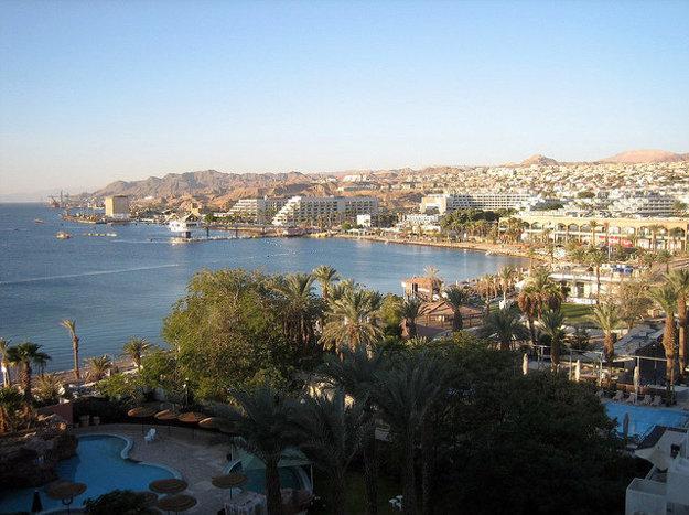Pohľad na mesto Eilat.