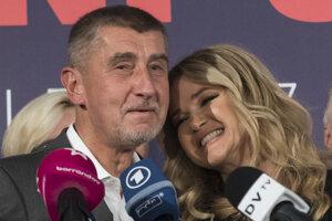 Predseda hnutia ANO Andrej Babiš a jeho manželka Monika.