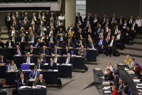 Poslanci pravicovo-populistickej strany Alternatíva pre Nemecko.