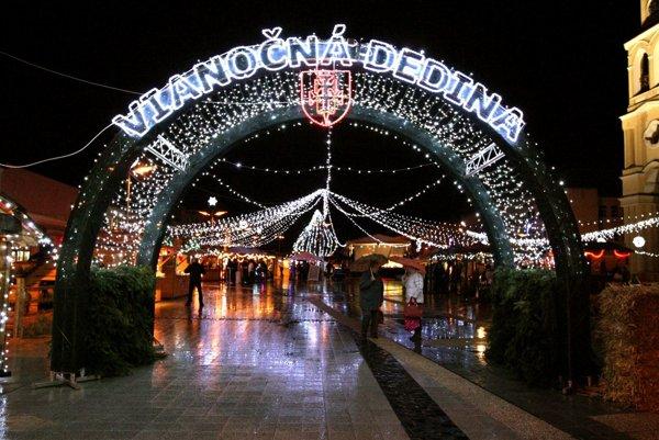 Vianočná dedina sa znova rozžiari 1. decembra.