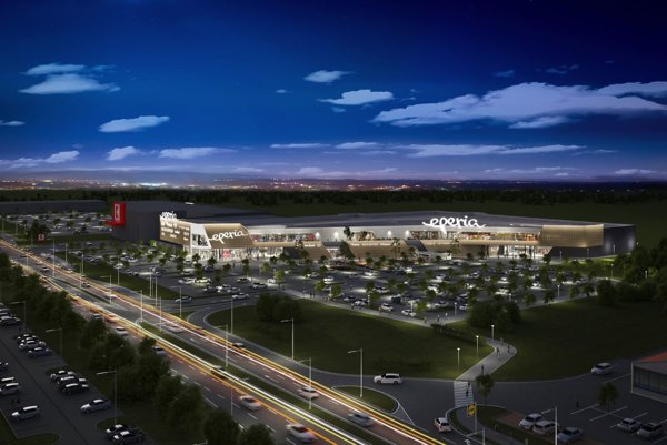Vizualizácia nákupného centra Eperia v Prešove.