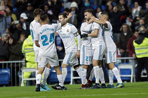 Hráči Realu Madrid sa tešili z postupu.