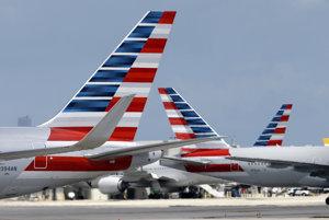 Lietadlá American Airlines.