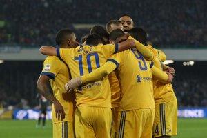 Hráči Juventusu sa tešili z výhry nad Neapolom.