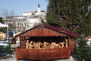 Betlehem vo vianočnom mestečku.
