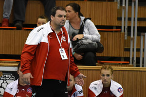 Tréner Michal Hradil.