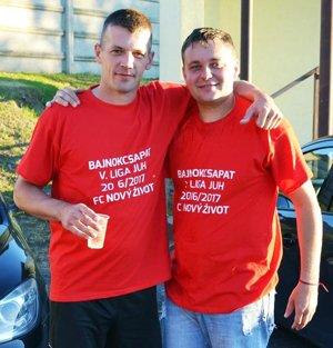 Vľavo najlepší strelec súťaže Anton Barčák.