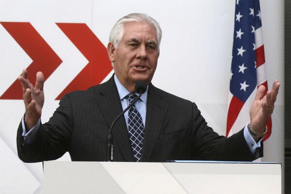 Americký minister zahraničia Rex Tillerson.