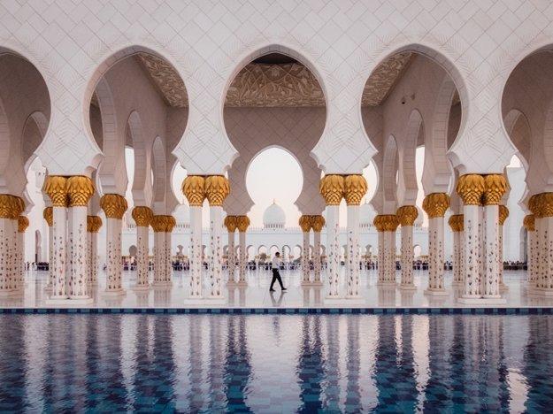 Mešita Sheikh Zayed Grand Mosque v Abu Dhabi