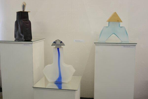 Diela, ktoré sú súčasťou výstavy Glassmovement.