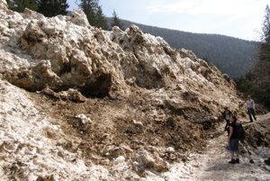 Lavína v Žiarskej doline v roku 2009.